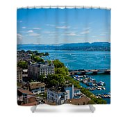 Lake Zurich Shower Curtain