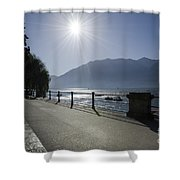 Lakefront With Sun Shower Curtain