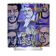 Lakers Love Jerry Buss 2 Shower Curtain