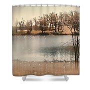 Lakes Edge Shower Curtain