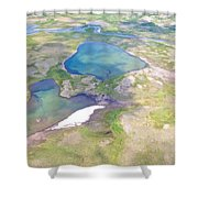 Lakes From The Seaplane In Katmai National Preserve-alaska Shower Curtain
