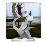 Lakeside Art Shower Curtain