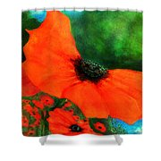 Lakeside Bloom Shower Curtain
