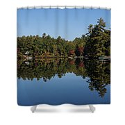 Lakeside Cottage Living - Reflecting On Relaxation Shower Curtain