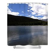 Mountain Lakeside Lunch Shower Curtain