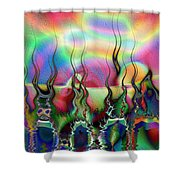 Lakeside Somewhere Shower Curtain