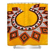 Lakota Souix Dance Collar Shower Curtain