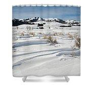 Lamar Valley Winter Scenic Shower Curtain