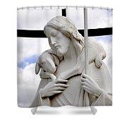 Lamb Of God Jesus Christ Torso Shower Curtain
