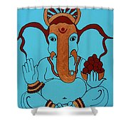 19 Lambakarna-large Eared Ganesha Shower Curtain