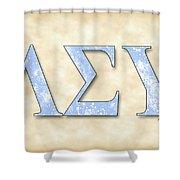 Lambda Sigma Upsilon - Parchment Shower Curtain