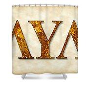 Lambda Upsilon Lambda - Parchment Shower Curtain