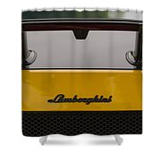 Lambo Logo Yellow Shower Curtain