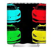 Lambo Pop Art Shower Curtain