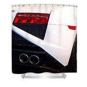 Lamborghini Gallardo Tail Light Pipes Shower Curtain
