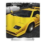 Lamborghini Countach Shower Curtain