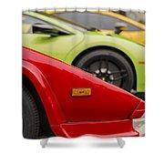 Lamborghini Countach Nose Shower Curtain