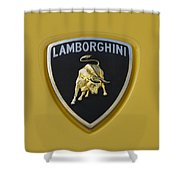 Lamborghini Emblem 2 Shower Curtain