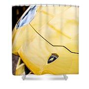 Lamborghini Hood Emblem -1661c Shower Curtain