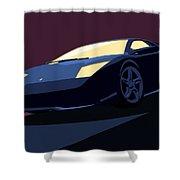 Lamborghini Murcielago - Pop Art Shower Curtain