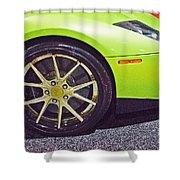 Lamborghini Verde  Shower Curtain