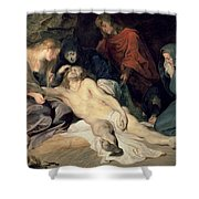 Lament Of Christ Shower Curtain