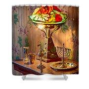 Lamp And Menorah Shower Curtain