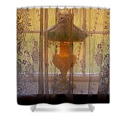 Lamp Light Glow Shower Curtain