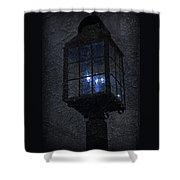 Lamp Post Blues Shower Curtain