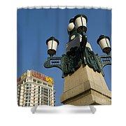 Lamp Post, China Shower Curtain