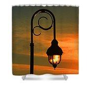 Lamp Post Glow Shower Curtain