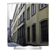 Lamp Post In Cologne Germany Alley Shower Curtain