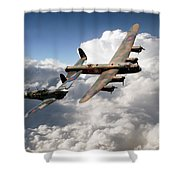 Lancaster And Spitfire  Shower Curtain