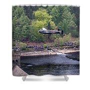 Lancaster Bomber 70th Anniversary Flypast Shower Curtain
