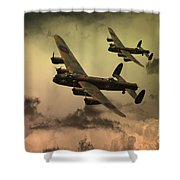 Lancaster Fire In The Sky Shower Curtain