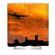 Lancaster Lincoln Sunset Shower Curtain