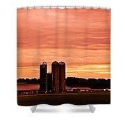 Lancaster Pa Sunset Shower Curtain