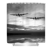 Lancasters Return Mono Version  Shower Curtain