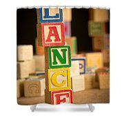 Lance - Alphabet Blocks Shower Curtain