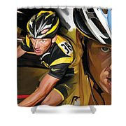 Lance Armstrong Artwork Shower Curtain
