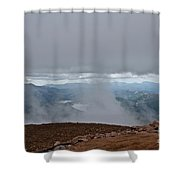 Land And Clouds Converge Shower Curtain