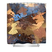 Land And Sea Shower Curtain by Heidi Smith