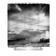 Land Of Fire Shower Curtain