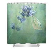 Land Of Milk And Honey Shower Curtain by Priska Wettstein