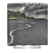 Land Of Solitude Shower Curtain