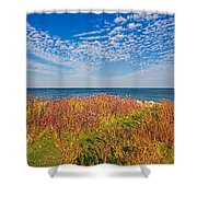 Land Sea Sky Shower Curtain