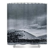 Land Shapes 10 Shower Curtain by Priska Wettstein