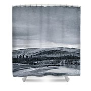 Land Shapes 11 Shower Curtain by Priska Wettstein