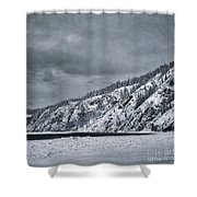 Land Shapes 13 Shower Curtain by Priska Wettstein