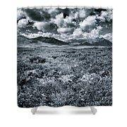 Land Shapes 24 Shower Curtain by Priska Wettstein